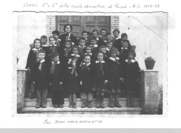 Scuola di Ruscio A.S 1957 - 1958