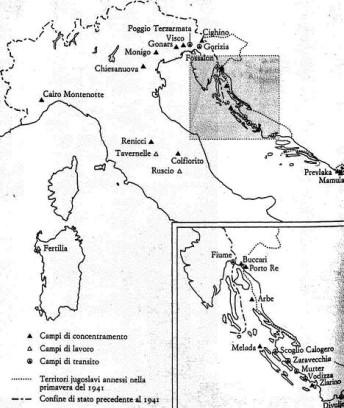 carta campi prigionia italia