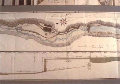 pianta gen. e sez. con il profilo delle acque  1793