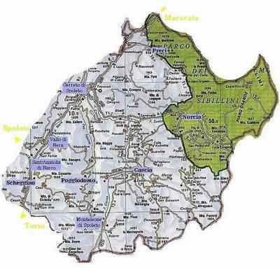 Carta Geografica di Ruscio
